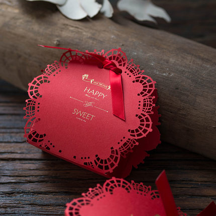 Fashion Chinese style box small wedding gift box/chocolate gift box/wedding sugar box made in EECA Packaging China