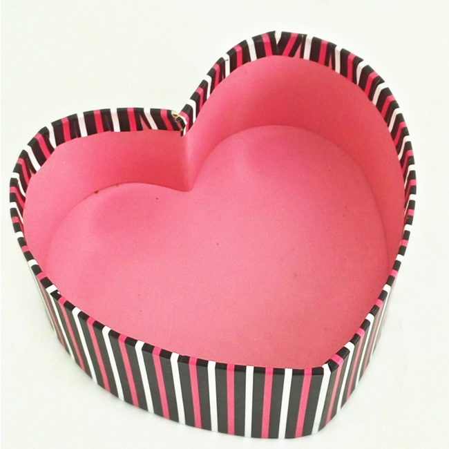 Attracted Design Lovely Customized Printing Logo Polygon Heart-Shaped Gift Packaging Boxes