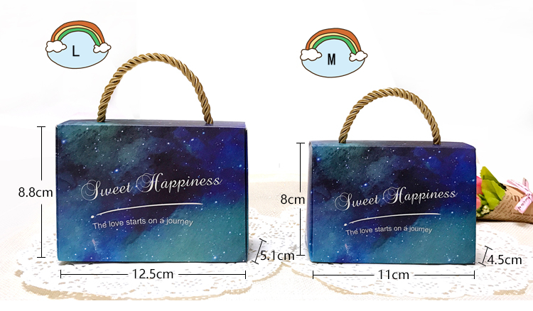 Star series box/Gift Boxes Wedding Party Favor With handle for candies sweet box in EECA Packaging China