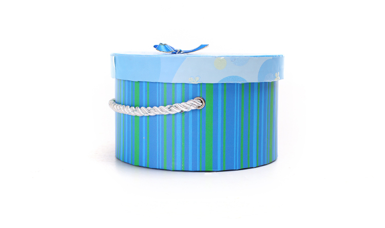 Blue and pink cardboard hat box/round cylindrical flower box/cowboy hat box hot sale in Packaging China