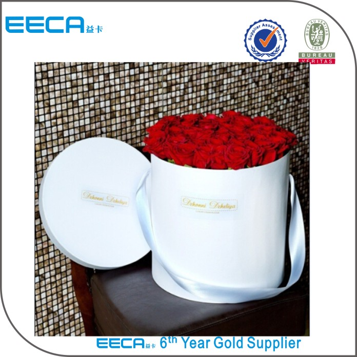 2017 Cylindrical flower box/round flower Gift box packaging wholesale flower hat box in EECA China