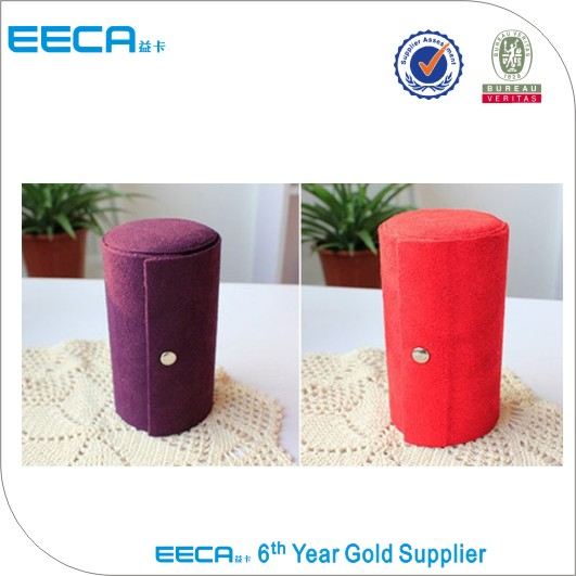 Honey packaging round Jewelry box/Velvet Cylindrical gift box/cosmetic box packaging hot selling in EECA Packaging China