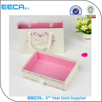 Fashion drawer gift box packaging handle box/Sweet drawer box with ribbon wholesale in EECA China