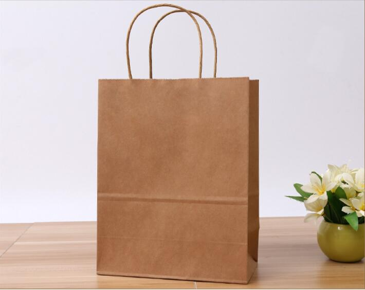 Eeca Green kraft paper Bag,