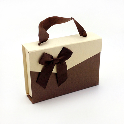 Rectangular gift box bow wholesale paper chocolate gift box folding chocolate box in EECA Packaging supplier