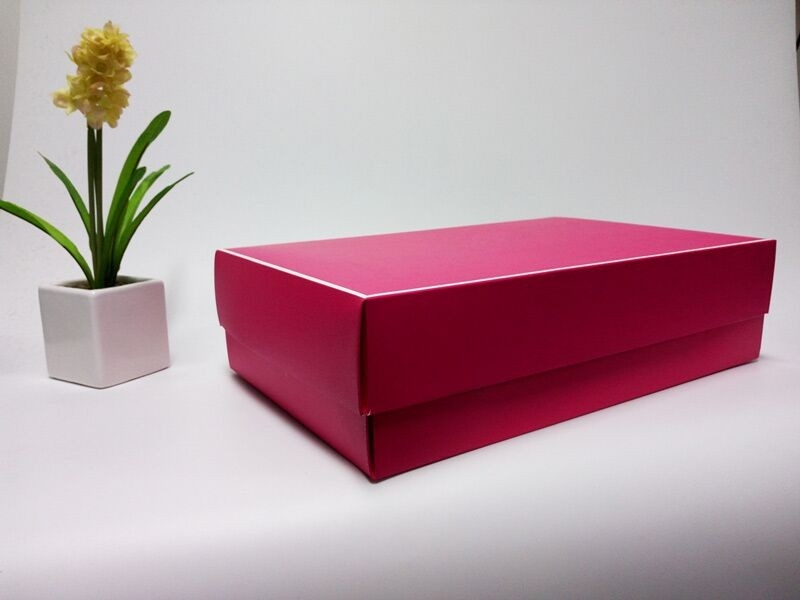 Rose Red special paper made box rectangular gift box custom printed folding clothing packaging box in EECA Packaging China
