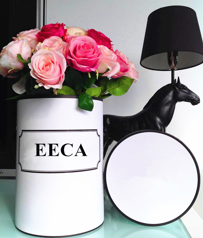Roses paper round flower gift box packaging/Cylindrical flower box/cylinder box made in EECA Packaging China