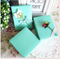 2017 blue color square gift box custom printed made cardboard jewelry box with ribbon/perfume paper boxes