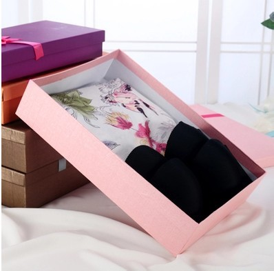 2017 bra box rectangular bra packaging/underwear storage box/Scarf boxes packing box made in china