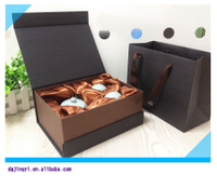 luxury black matte laminated cardboard storage box equipment/Box packing porcelain wholesale made in EECA China