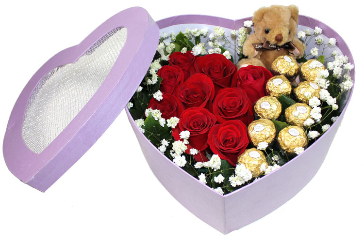 High quality heart shape box/packaging for flowers and chocolate/chocolate gifts box for hot sale in China