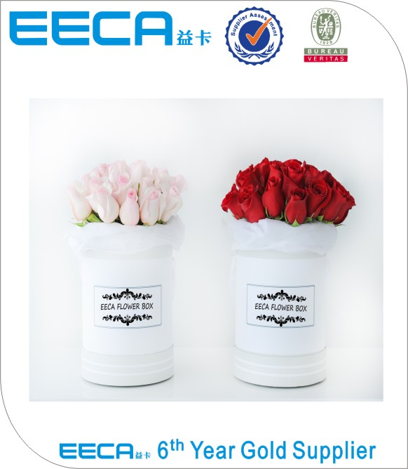 Dongguan Roses gift box round flower packaging box/Cylindrical flower boxmade in EECA China