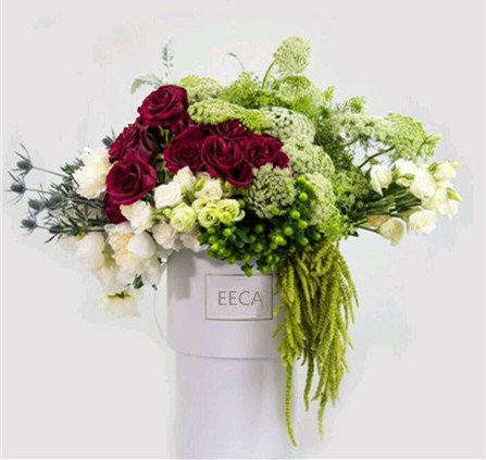 2017 Event planning decoration white round box for flowers/flower box/wedding box/Cylindrical flower box in EECA Packaging