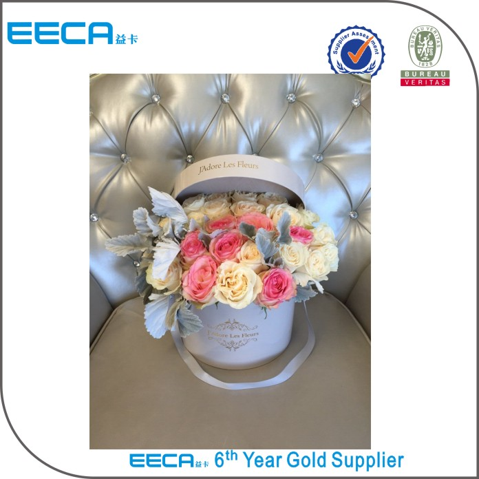 Waterproof round flower gift box packaging Cylindrical rose box for lover in EECA China