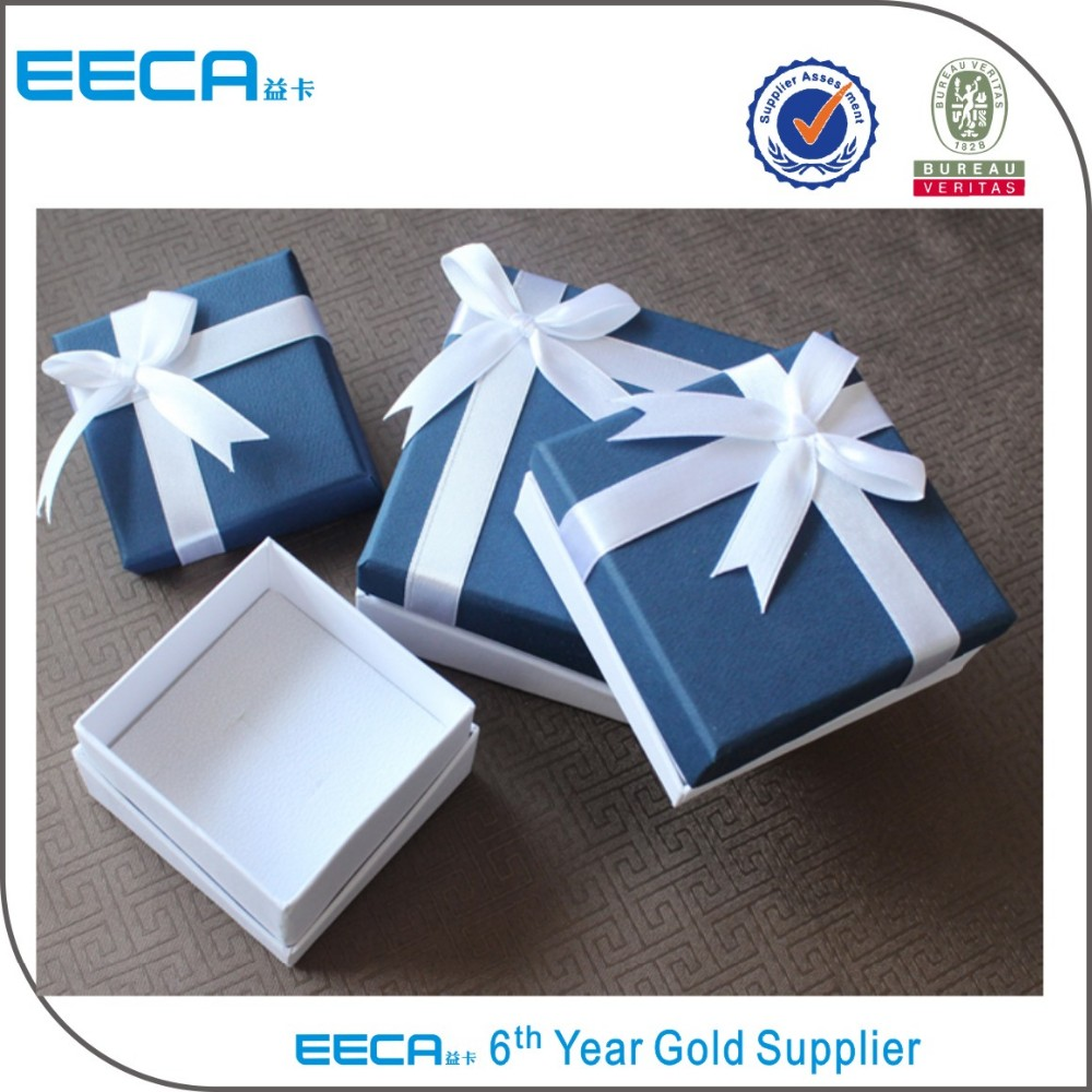 2017 paper jewelry box/cheap jewelry box for ring/necklace/custom logo pendant gift packaging box in china supplier