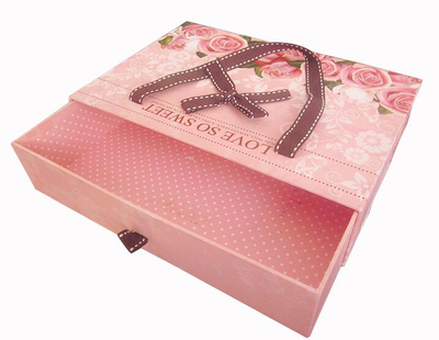 Drawer gift box with Ribbon made in China