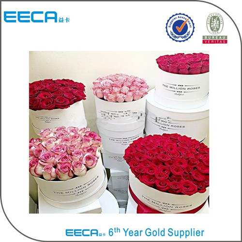 China paper round flower box gift paper box/flower gift box/Cylinder flower box in EECA Packaging China