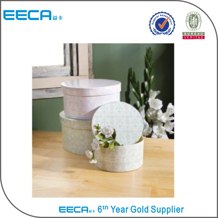 Fancy waterproof recycle cylinder gift box round gift hat packaging box/box cardboard for flowers wholesale in EECA China