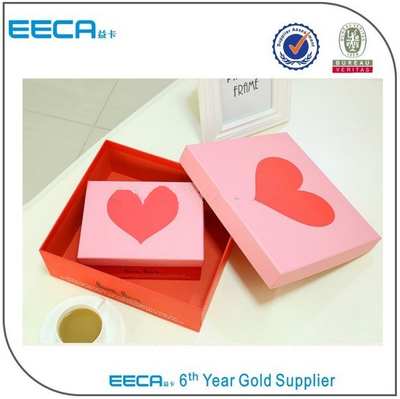 rectangular gift box professional OEM rectangular paper box manufacturer/handmade cardboard box/heart gift box