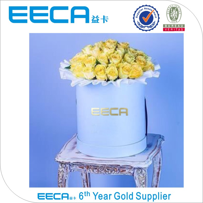 High quality waterproof paper flower hat box/round flower gift packaging box china supplier
