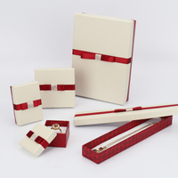 Luxury paper cardboard jewelry packaging box with ribbon/jewelry box for necklace in EECA Packaging