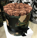 Luxury custom camo collection round flower hat box,rose box packaging in China