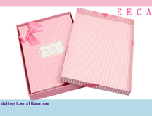 Pink color rectangular cardboard gift box and packaging box for sale made in China