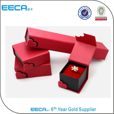 2017 Unique Handmade jewelry box Personalized Red foldable Jewelry Display Packaging Folding Paper Box in EECA China
