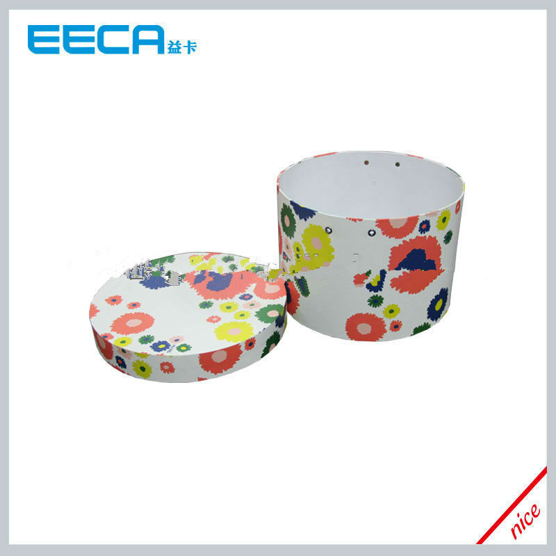 2017 Cylindrical flower box Colorful paper printed cardboard round box packaging in China
