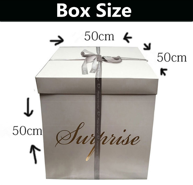 Custom DIY Explosion Surprise Gift Boxes Balloon For Birthday Or Wedding Creative Gifts